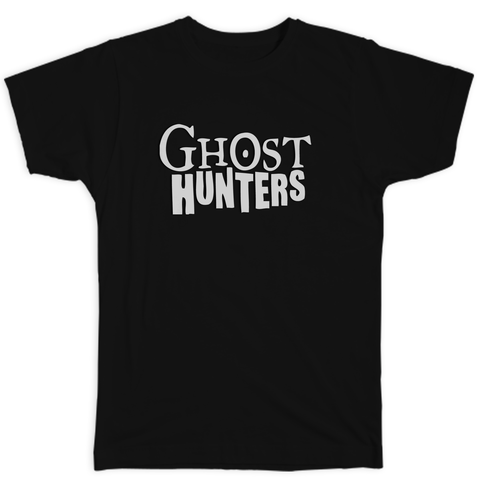Classic Ghost Hunters Unisex White Logo Tee