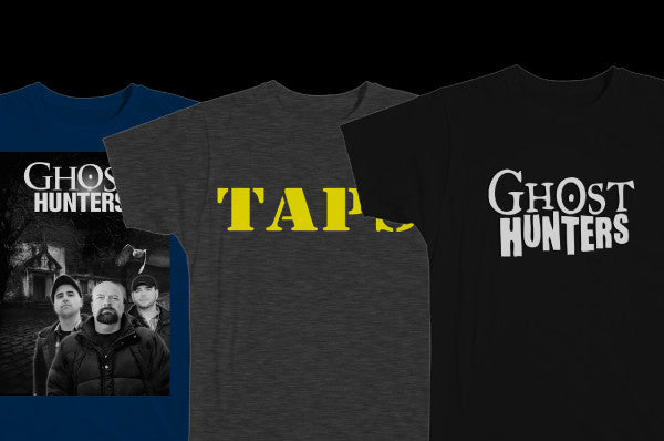 GHOST HUNTERS & TAPS T-SHIRTS
