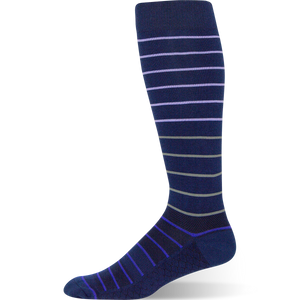 Gradient Stripe - Navy Striped Sock - Argoz