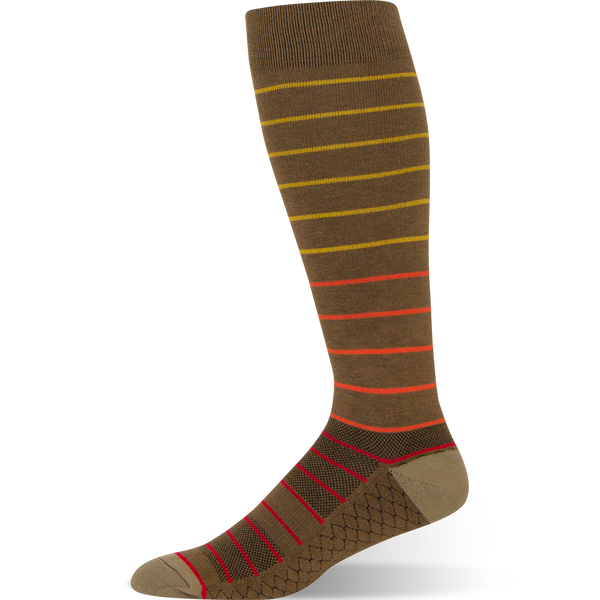 Gradient Stripe - Brown Striped Sock - Argoz