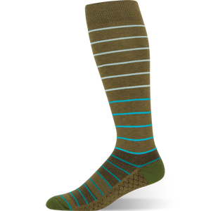 Gradient Stripe - Olive Green Striped Sock - Argoz
