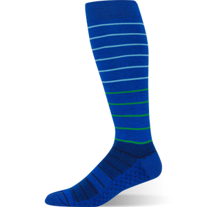Gradient Stripe - Royal Blue Striped Sock - Argoz