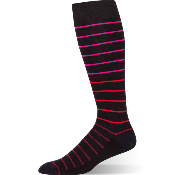 Gradient Stripe - Black Striped Sock - Argoz