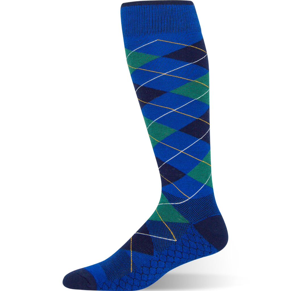 Heritage Argyle - Royal Blue Argyle Sock - Argoz