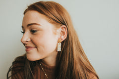 Pure as Gold Clay Earrings