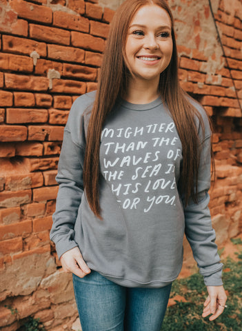 Mightier Than The Waves Pullover