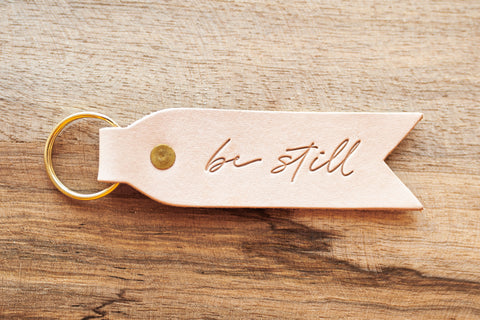 Be Still Key Fob- Blonde + Brass