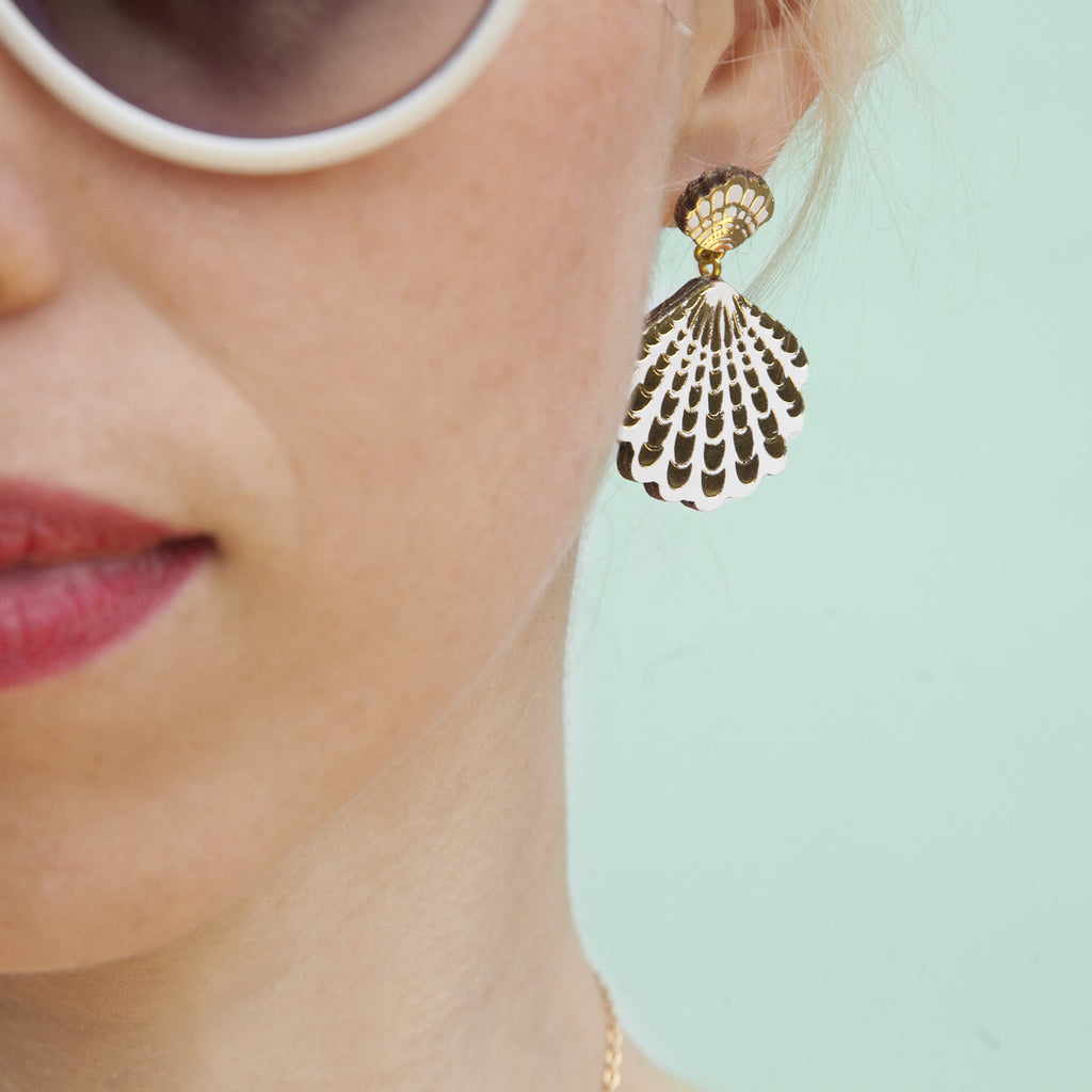 kate product by jewellery studs silver stud shells earrings wimbush cone shell katewimbushjewellery original seashell