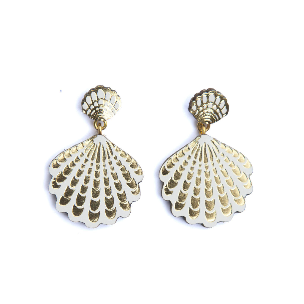seashell zoom shell rhodium westwood jewellery vivienne women stud earrings