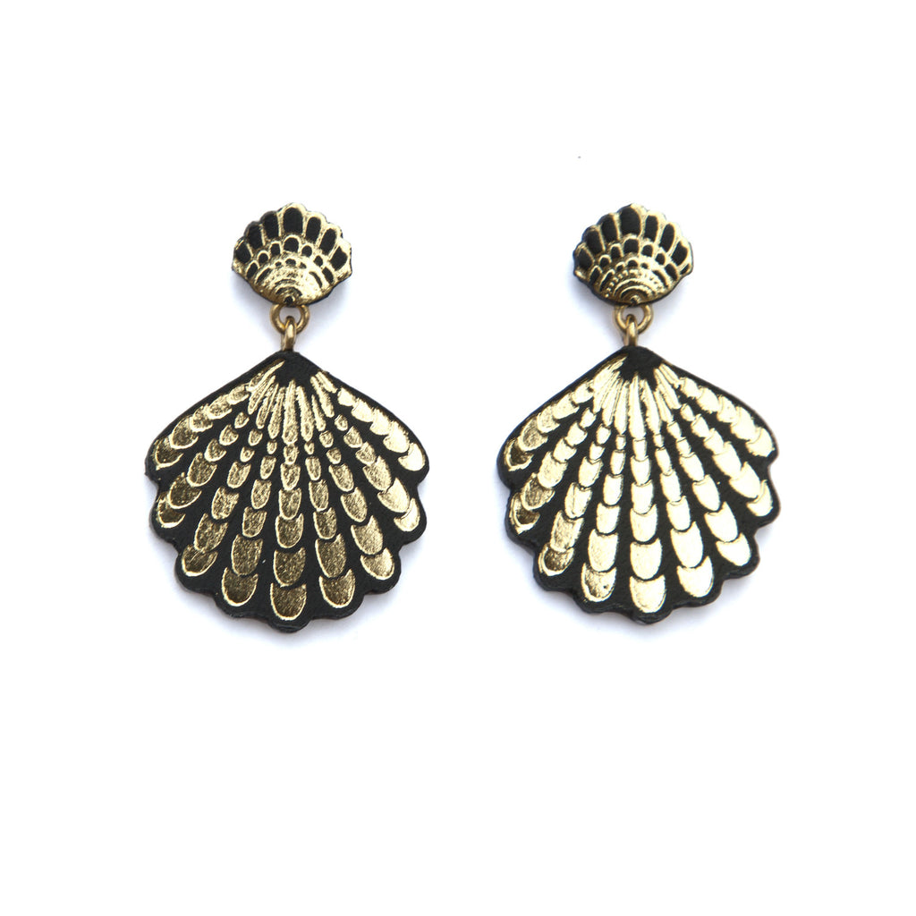 seastories earrings smpokou agapi rose plate classic seashell gold products stud