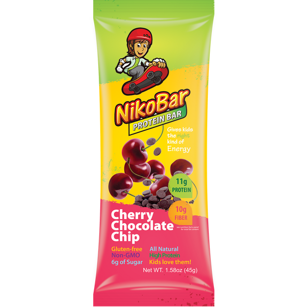 Children's Nutrition Bars: Flavor Cherry Chocolate Chip Box of 12 - NikoBar - 1