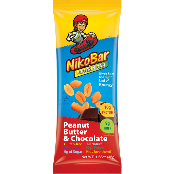 Children's Nutrition Bars: Flavor Peanut Butter & Chocolate Box of 12 - NikoBar - 1