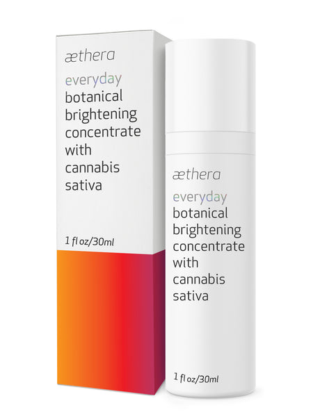 aethera beauty everyday botanical brightening concentrate with cannabis sativa