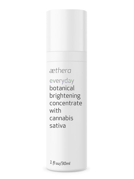 aethera everyday botanical brightening concentrate with cannabis sativa