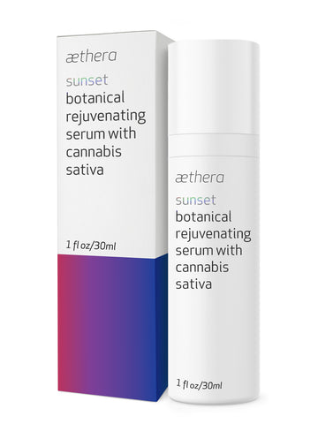 aethera beauty sunset botanical rejuvenating serum with cannabis sativa