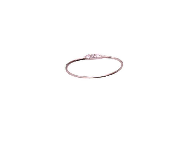 3 Tiny Wishes- Diamond Stack - Solid Pink Gold