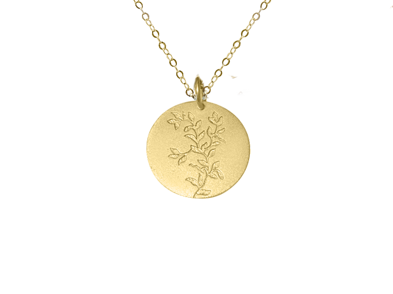 Signature Protected Necklace - 18k Yellow Vermeil or British Sterling on a Solid Gold Chain