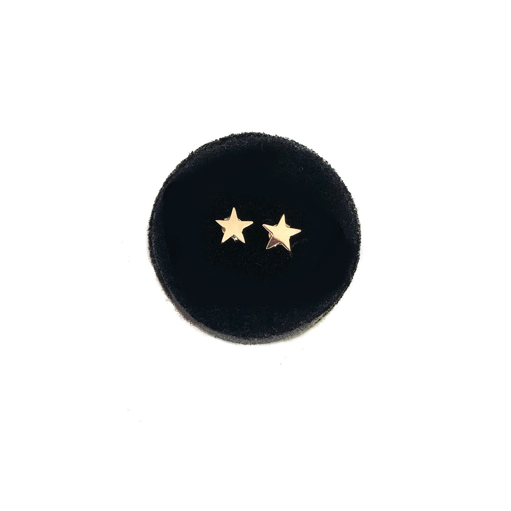 Mini Star Studs - Solid Gold