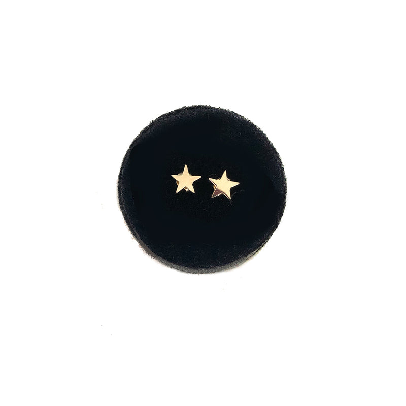 Mini Star Studs- Available In Solid Yellow Or White Gold