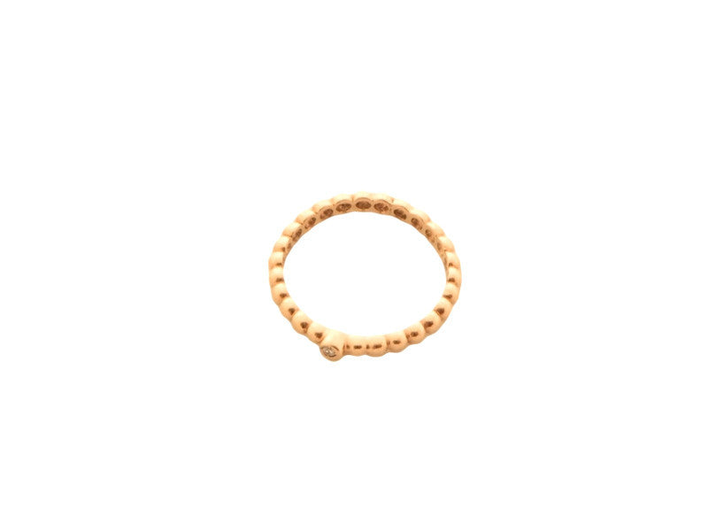 Bubble Diamond Ring - Solid Yellow Gold