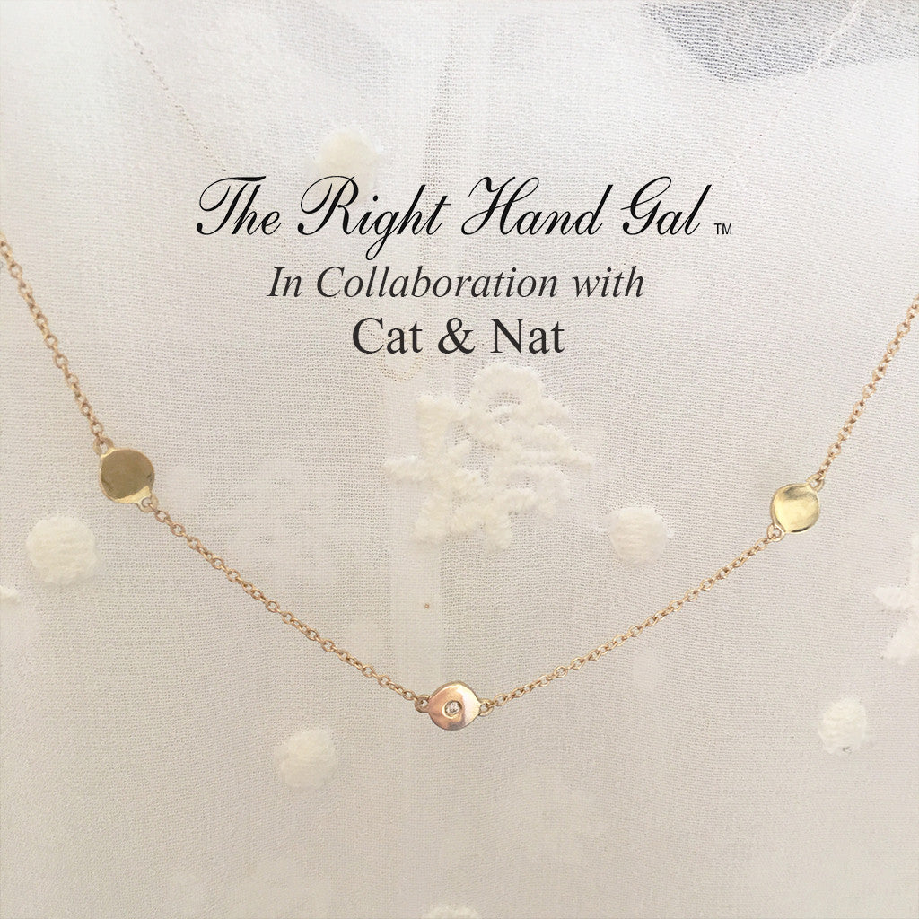 "In a world caught up in ""It's All about ""Me"" Here's a necklace that says ""It's  All about ""We""  Beautifully handcrafted in solid gold and accented with a freshly cut diamond."