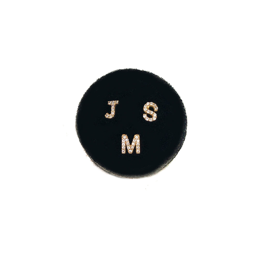 Make It Personal.. Mini Initial Studs Each Sold Separately - Solid Gold With Diamonds Or White Zircon