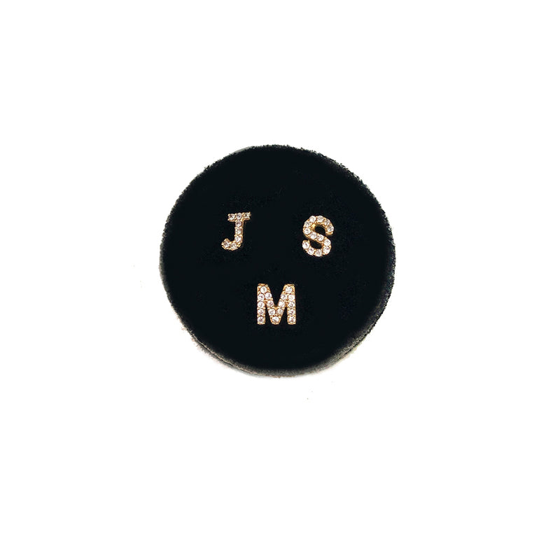 Mini Initial Studs each sold separately - Solid Gold with Diamonds or Created White Topaz