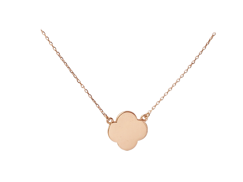 """Lucky Clover"" - Pink Solid Gold"
