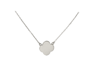 Lucky Clover Necklace - Solid Yellow, White or Pink Gold