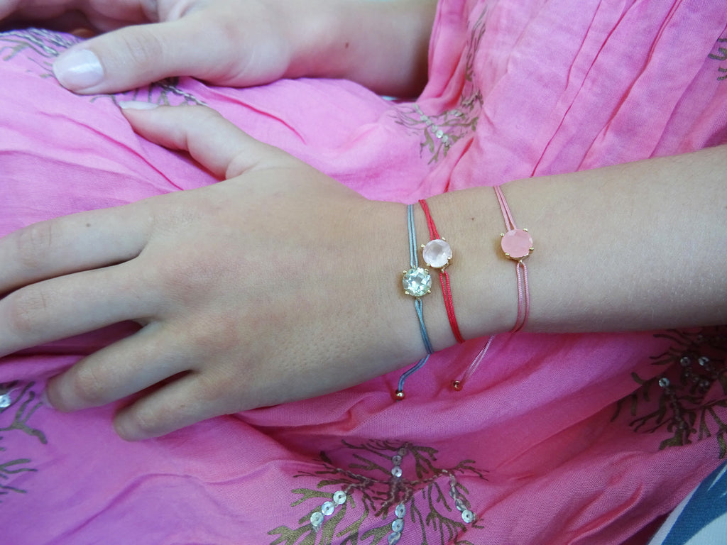 Magical Friendship Bracelet - Parisian Silk- Pink Cloud