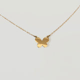 SOLD GOLD SINGLE BUTTERFLY NECKLACE