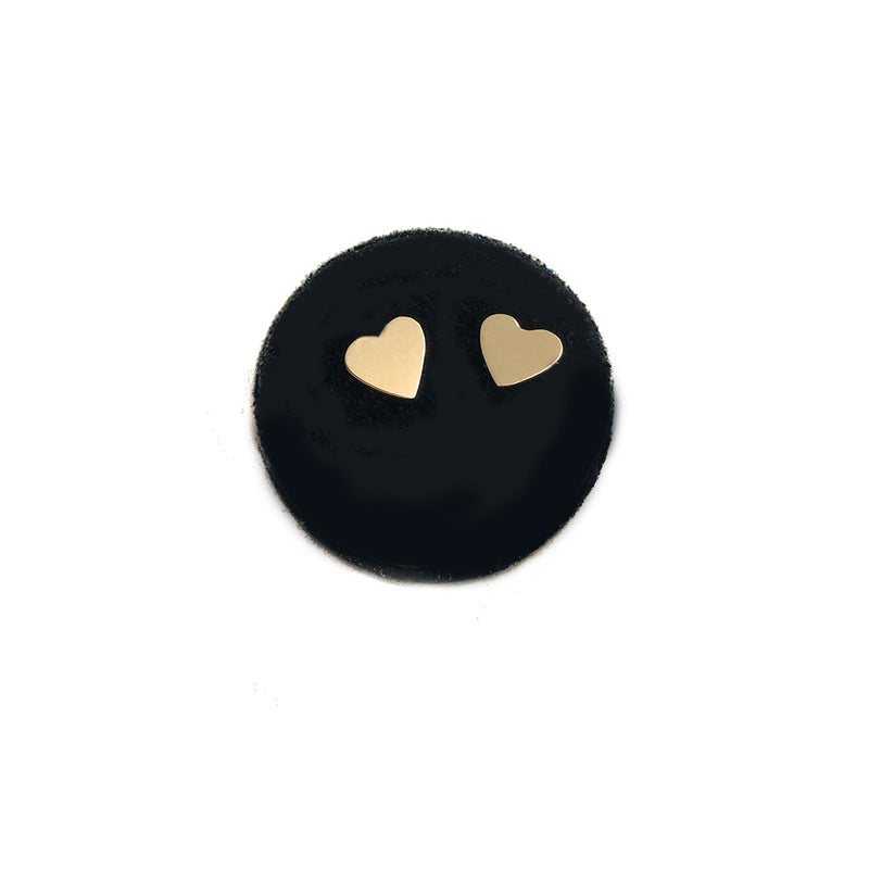 Heart Studs- Available In Solid Yellow Or White Gold