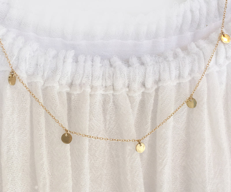 Rays Of Sun Necklace In Solid Gold
