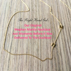 Our Meghan Necklace- Mini Initial Necklace - 2 initials of your choice - Solid Gold