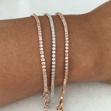TENNIS BRACELET- GOLD PLATED OR STERLING