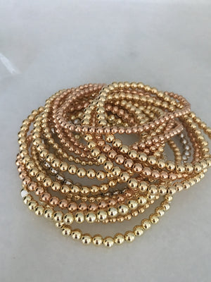 Gold Fill Ball Bracelet Each Sold Separately- Pink, Yellow Or White Sold Out