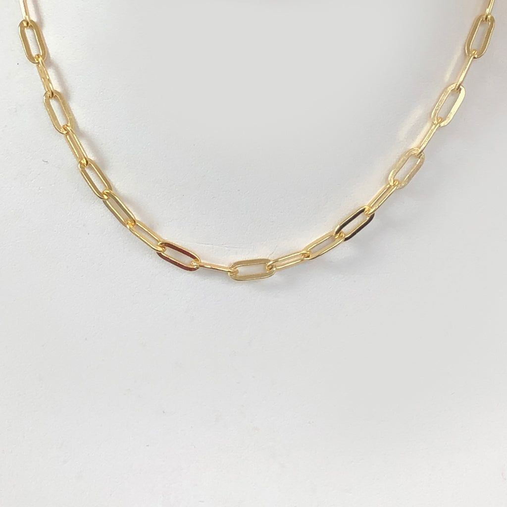 Link Chain SOLD OUT FOR NOW SORRY ! in 18K Yellow Gold Vermeil Choker Adjustable from 13-15 Inches or 16-18 Inches
