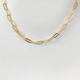 link chain in 18 k yellow gold vermeil choker adjustable from  12- 14 inch