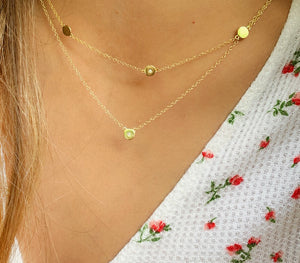 Cat & Nat Squared- Two Necklaces in one Available in Gold Plated