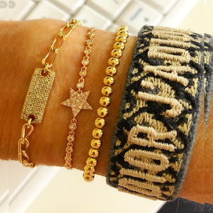 Stack of Gorgeousness - Star, Bar, Gold Balls, ID Bracelet - Each sold seperately