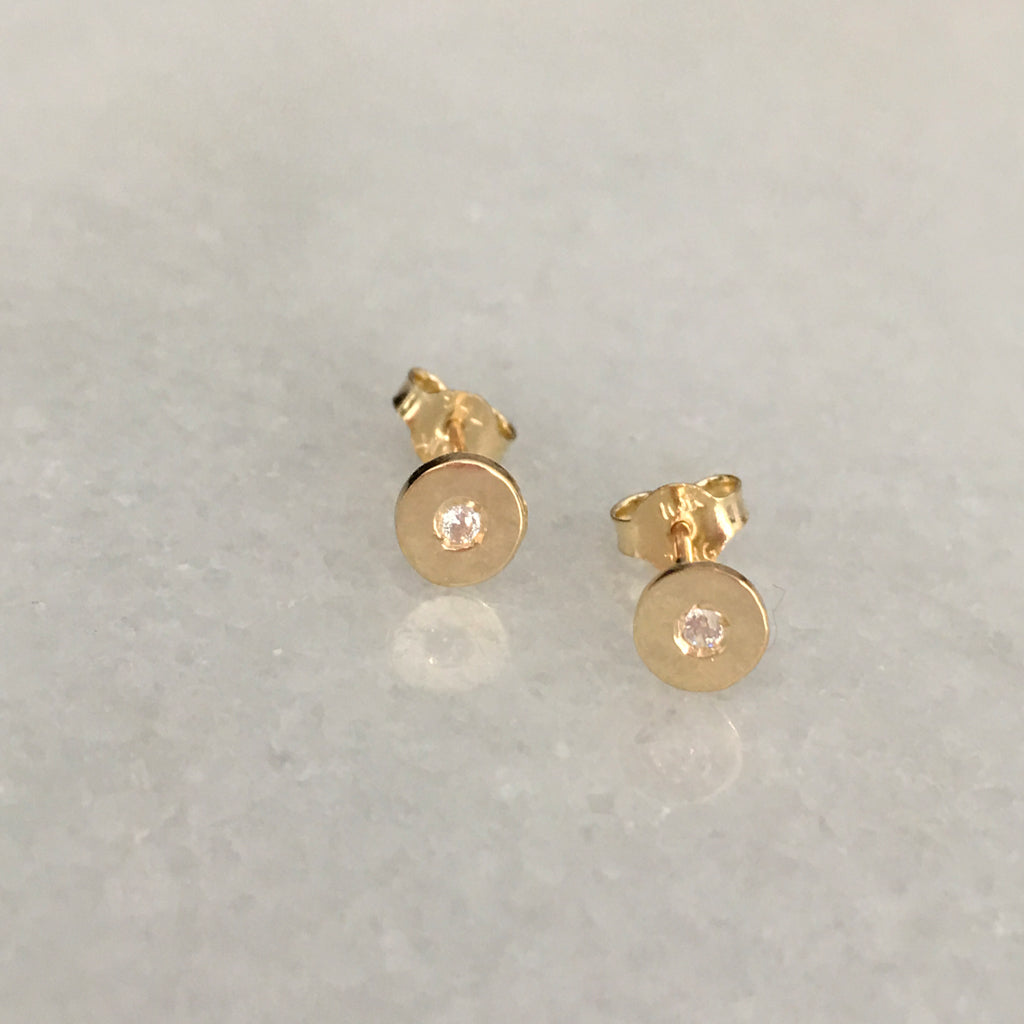 BRAND NEW Cat and Nat/ The Right Hand Gal Mini Solid Gold Signature Studs