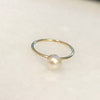 Beautiful Pearl Ring - Solid Gold