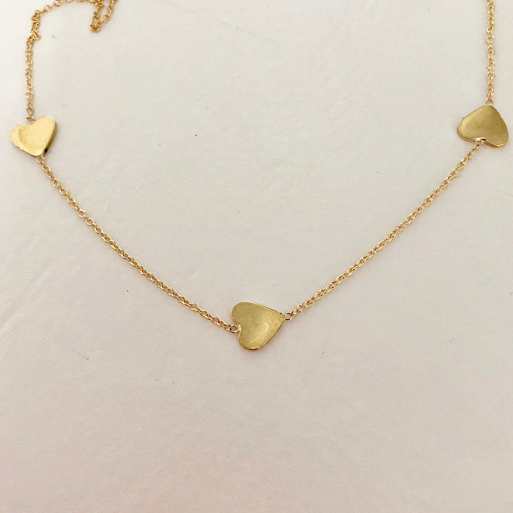 Follow Your Heart Necklace in Solid Gold