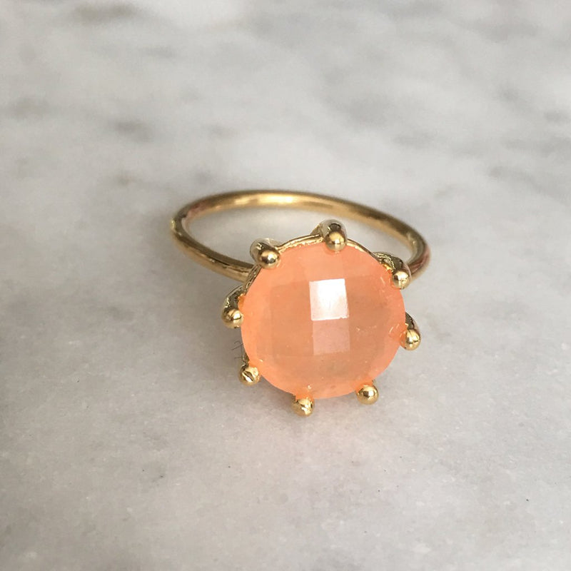 Magic Ring- Peach Moonstone