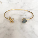 Magic Daisy Cuff - Labradorite Gemstone