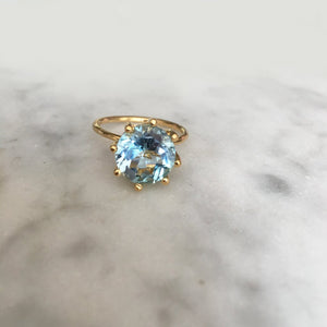 Magic Ring -  Rare Blue Topaz