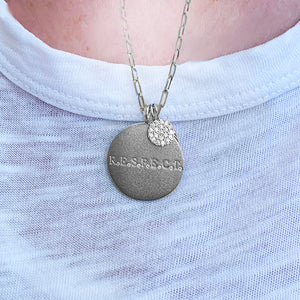 R.E.S.P.E.C.T. Necklace with Small Pavee Disc Charm