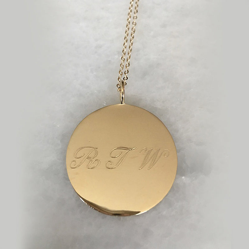 Encrypted Collection- Add a Secret Message or Simply Wear the initials of your choice- Solid Gold