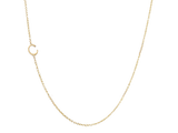 Tiny initial necklace in soli gold