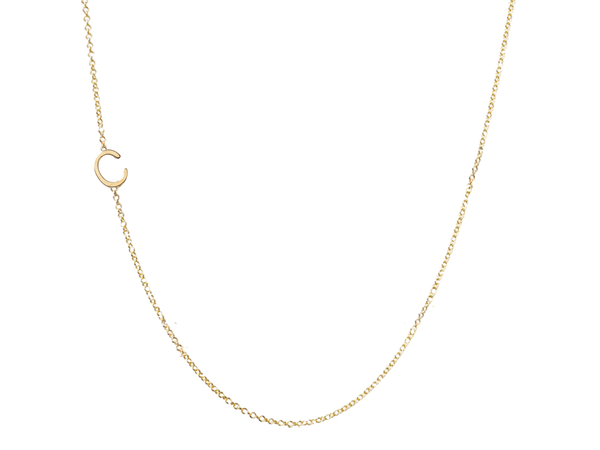 Mini Initial Necklace With 1 Initial Of Your Choice